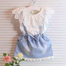 2017 vêtements les plus récents 2017 Style le plus récent Enfants Robes sans manches filles Bébé été Coton Habillement Fille Cute Party Dress Hollow out Princesse Princesse Dresses budget vêtements les plus récents