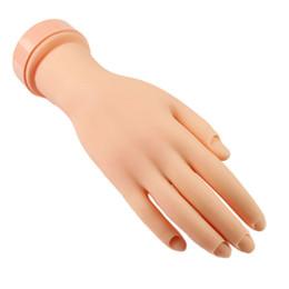 Wholesale Flexible Mannequins - Wholesale- Plastic Fake Fingers Model Practice Training Nail Art Flexible Soft Flectional Mannequin Hand Nailart Practice Tools