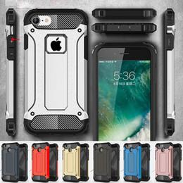 2019 aceros de armadura Para Apple iPhone X 8 7 plus 6S Samsung Galaxy note8 S8 más S8 + S7 edge S6 Armadura de acero TPU + PC Fundas para teléfonos celulares DHL libre SCA328 rebajas aceros de armadura