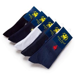 Wholesale High End Socks - All Cotton Sock Middle Barrel Recreational Embroidered Socks High End Branded Athletic Stockings Breathable Sweaty For Men 3 7mh J