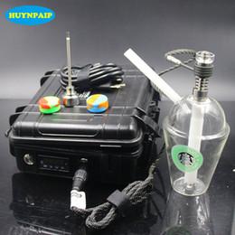 e cigarro titânio prego Desconto D-Nail Vaporizador + Titanium Nail + Cilindro De Aquecimento WAX Erva Seca E Cigarro Vaporizador Caneta De Vidro Bong Tubo De Água