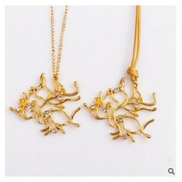 Wholesale Wholesale Emma - Belle Princess Jewelry Beauty and the Beast Necklace Belle Tree Necklace Gold Beauty in the Beast Branch Emma Watson Necklace Free Shipping