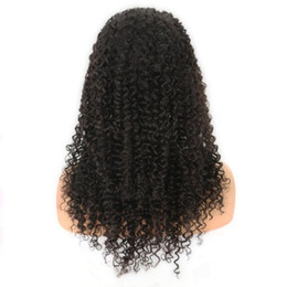 Wholesale Natural Fiber Baby - long fashion curly synthetic hair 100%fiber African American can be braided wigs baby hair lace front wigs 150%density