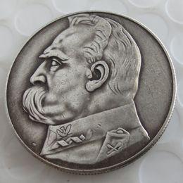 Wholesale Antiques Poland - 1935 10 ZL PILSUDSKI POLAND SILVER COIN Copy Coin Brass Craft Ornaments replica coins home decoration accessories