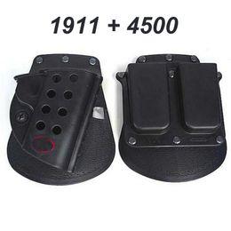 Fundas de plastico online-Airsoft Gun Holster táctico para 1911 Black Double Magazine Pouch 4500 Durable Plastic 1911 Gun Holster Sets
