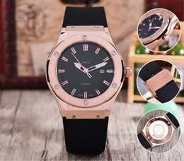 Wholesale Best Color For Baby Girl - AAA brand watch man luxury quartz wristwatch rose gold color black rubbler band skeleton man business day watch best gift for baby girl