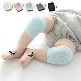 Wholesale Baby Knee Warmers - Wholesale- Comfortable ductile Baby Toddler Crawling Anti-slip Knee Pads soft Leg warmer Elastic Infant Protect Socks Kneecap Coverage