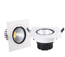 Wholesale Embedded Lamps - Wholesale- NEW Embedded COB LED Downlights Square 7W 9W 12W 15W LED Spot lamp AC85-265V LED Recessed Ceiling Lamp Warm white Cold white