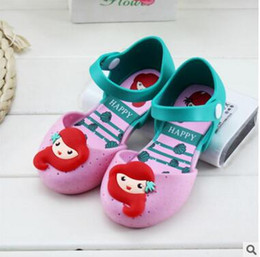 Wholesale Jelly Sandals Flower - Girls Melissa Shoes Jelly Mermaid Princess Sandals Kids Sandals Shoes Princess Shoes Anti-Skid Sapato Melissa Sandals DHL Free Shipping