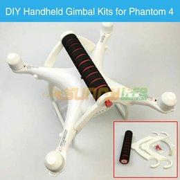 Wholesale Dji Kit - Wholesale- Phantom 4 Portable Handheld Gimbal Stabilizer DIY Conversion Kit Carrying Holder Bracket Accessory for DJI Phantom 4