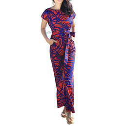 Wholesale Trendy Pants Jumpsuits - Wholesale- Trendy Europe Brand Design Female Overalls Full Length Wide Leg Pants Women Jumpsuit Summer Beach Leisure Macacao Bodysuit