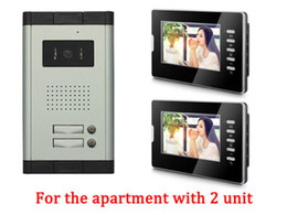 Wholesale Entry Phone - Apartment 2 Units Wired Video Door Phone Audio Visual Entry Intercom System 1V2