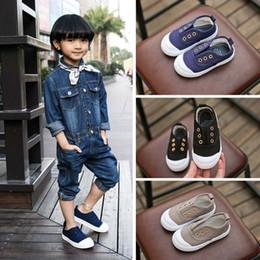 Wholesale Cool Toddler Shoes Boys - 5 Color Cool Kids Toddler Shoes Girls Boys Canvas Slip-on Shoes Children Casual Flats Shoes