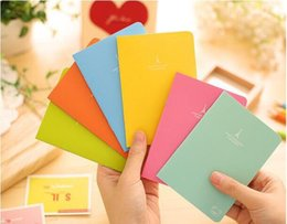 Wholesale Pink Accounting - 6pcs lot 88x125MM Small Smooth Notebook Notebooks Mercurial Superfly Notebook For Travel Gift Presents Scratch Map