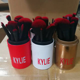 Wholesale Top Hair Tools Wholesale - makeup brushes Kylie makeup bush 12pcs set Kylie Jenner brush foundation blush powder makeup tools top quality dhl free shipping