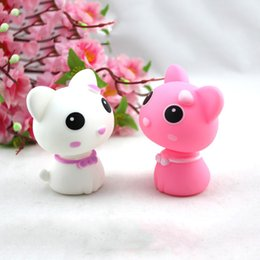 Wholesale Car Accessory Shaking Toy - Wholesale-1pc Fashion Interior Dancing Cat Cute Shaking the Head Cat Cartoon Creative Car Decoration Car Accessory Auto Omament Gift