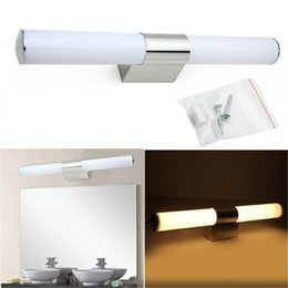 Wholesale Bedroom Lamp Wall - LED Mirror Light High Quality 2835SMD Stainless Steel 10W 12W 20W LED Mirror Lamp Bathroom Make up Room Bedroom Mirror Front Wall Lamps