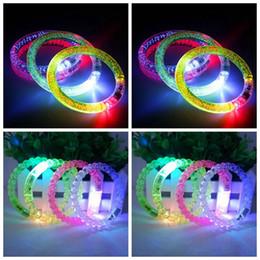 Wholesale Led Fluorescence Bracelet - Glow Light Sticks Party Safety Bracelets LED Flash Blink Glow Acrylic Club Bracelet Fluorescence Club Stage Bracelets OOA3305