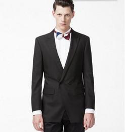 Wholesale Men S Wedding Suit Back - Custom made men suits Groom Tuxedos Two Pieces Double Breasted Men Wedding Suits Back Vent Formal Party Suits (Jacket+Pants)