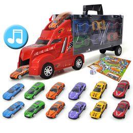 Wholesale Toy Alloy Cars Set - Creative Funko Pop Cargo Truck Plastic Large car&Alloy Mini car Education & Intelligence Toy Mini Car Lepin Time Killers 3 Set Toys for Boy