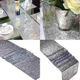Wholesale Strip Sequins - 20yc2 Creative Sequins Tables Runner Hotel Paillette Tablecloth Practical Table Cloth Banquet Decorate Strip Antependium Table Cloth New Hot