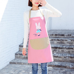 Wholesale Chef Waist Aprons - Cooking Apron Kitchen Housework Cleaning Tool Anti Fouling Plain Craft Baking Home Accessories Chefs Butchers Woman Waterproof