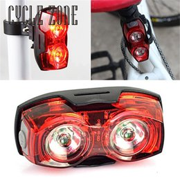 Wholesale Super Light Cycle - Wholesale- Outdoor Dynamic Cycling Night Super Bright Red 2 LED Rear Tail Light Bike Bicycle Safety Light Mar08