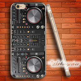 Wholesale Apple Iphone Interface - DJ Controller Mixer Interface Machine Soft Clear TPU Case for iPhone 6 6S 7 Plus 5S SE 5 5C 4S 4 Case Silicone Cover.