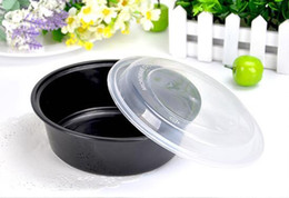Wholesale Wholesale Disposable Soup Bowl - 700ml disposable packing container with lid 1000ml plastic takeout bowl of soup lunch dinner meal fast food carrier boxes tray with cover