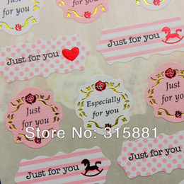 Wholesale deco labels - Just for you Seal Label Sticker Set Packaging Party Gift Wrap Diary Deco Wedding Card Deco Stickers
