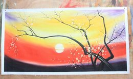 Wholesale Plum Blossom Canvas Art - Plum blossom,Genuine Pure Handpainted Scenery Art oil Painting On Thick Canvas Museum Quality in Multi size chosen