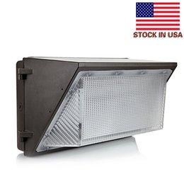 Wholesale Led Kit Outdoor - Stock In US + Outdoor Wall led lighting 120W led retrofit kits wall pack lamp fixtures led shoebox light ac 85-265v 5 years warranty