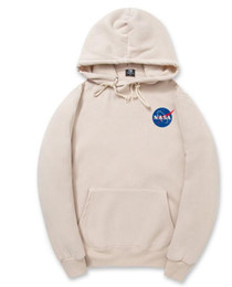 Wholesale Hooded Sweatshirt Xxl - NASA Hoodie Streetwear Hip Hop Khaki Black gray pink white Hooded Hoody Mens Hoodies Sweatshirts Plus Size XXL