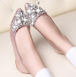 Wholesale Elegant High Heels For Women - sandals for women high heels sexy 2017 elegant gold silver Rhinestone Pointed Toe rhinestone sandals for lady woman