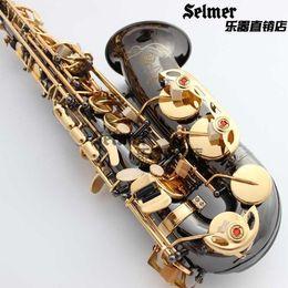 Wholesale Alto Saxophone Sax - wholesale ree Shipping New Wholesale Henri alto saxophone R54 instruments Reference 54 bronze Black Nickel Gold alto sax