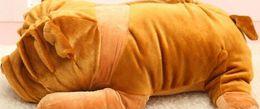 Wholesale Huge Stuffed Toys - 1pc 100CM Huge Stuffed Animal Belldog Plush Toy High Quality Shar Pei Dog Plush Toy For Gift