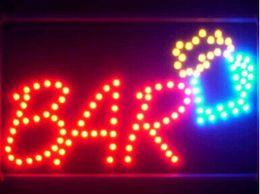luces de señal de cerveza para bares Rebajas Venta al por mayor venta directa de encargo de Semi-al aire libre gráficos llevó letrero 10 * 19 pulgadas bar Light Pub Beer Store señalización de neón