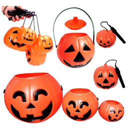 dhl free shipping wholesale small plastic halloween pumpkin pot7cm7cm pumpkin bucket halloween decoration halloween gift from dropshipping suppliers - Plastic Pumpkins