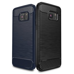 """Wholesale Drawing Pattern Case - IPAKY® Wire Drawing Samsung Galaxy S7 TPU Case with Carbon Fiber Pattern Flexible Slim Case for Samsung Galaxy S7 (5.1"""" Screen)"""