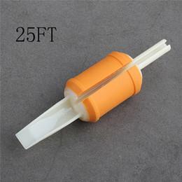 Tubo di plastica trasparente morbido online-Tubi a gettare 25F 20pcs 30MM tubi gialli in silicone morbido Grip trasparente Tubi di plastica Combo preciso per la spedizione gratuita