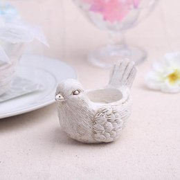 "Wholesale Tealight Candle Holder Free Shipping - 100pcs Lot+Unique Wedding Favors""Song Bird"" Tealight Candle Holder Lovely Birds Tealight Holder Favors+FREE SHIPPING"