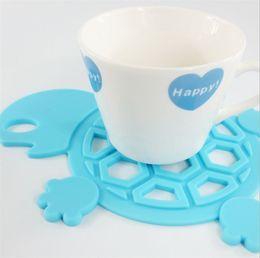 Fashional Cute Turtle Silicona impermeable a prueba de aceite mesa de aislamiento Placemat desde fabricantes