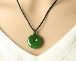 Wholesale Nephrite Jade - Hot new goods and nephrite outside the material spinach green jasper security deduction pendant jade gift