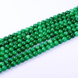 Wholesale Dark Green Natural Jade - 1pack lot AAA+ 10mm High quality dark green Chalcedony Jasper Round Jade natural Stone Beads for DIY Bracelet Making