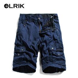 Wholesale Boys Bib Overalls - Wholesale- OLRIK 2016 NEW Summer Mens Cargo Shorts boys bib Overall Cotton Knee Length Overalls Shorts Joggers Trousers
