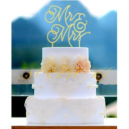 Wholesale Cake Toppers For Weddings Cheap - Cheap Chinese Red   Gold Mr & Mrs Wedding Cake Topper for Wedding   Anniversary Party Decoration Supplies