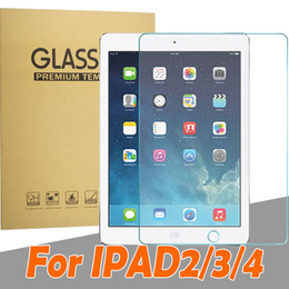 Wholesale Ipad4 Screens - 2d 2.5d Tempered Glass Screen Protector for ipad 2 3 4 ipad2 IPAD3 ipad4 Glass Film Screen Protector