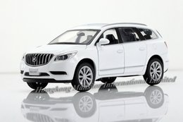 Wholesale buick enclaves - 1:32 Scale Alloy Diecast Car Model For BUICK Enclave Collection Model Pull Back Toys Car With Sound&Light - White Gold Red Black
