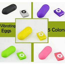 Wholesale Egg Vibrator Control - MP3 Remote Wireless Vibrating Egg 20 Modes Remote Control Bullet Vibrator Sex Vibrator Adult Sex Toys