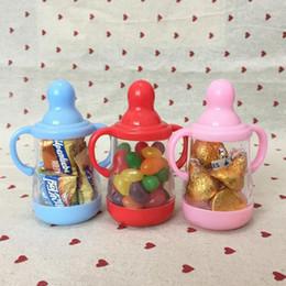 süßigkeiten-box baby-flasche Rabatt Kreative Fütterung Flasche Süßigkeitskästen Baby Dusche Vollmond Geburtstag Party Geschenkbox für Gast Freies Verschiffen ZA4090